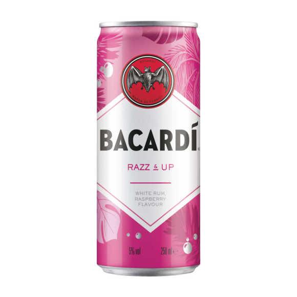 Bacardi Razz & up blik product photo