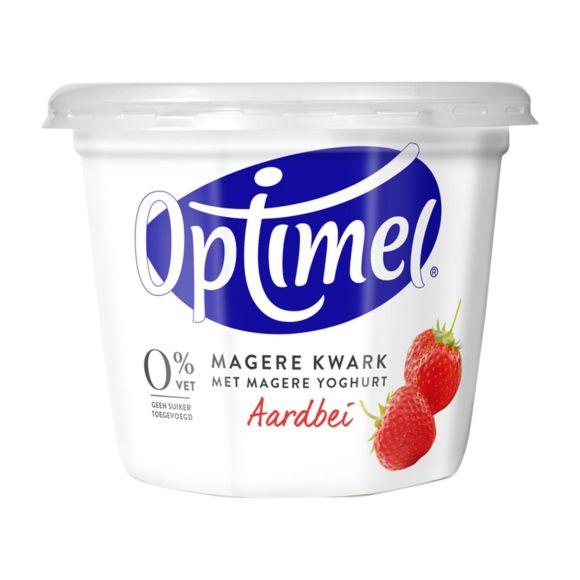 Optimel Kwark Magere Aardbei 500 g Beker/kuipje product photo