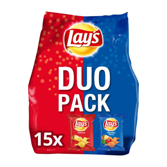 Lay's Duopack naturel & paprika chips product photo