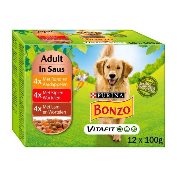Bonzo Hondenvoer maaltijdzakjes adult product photo