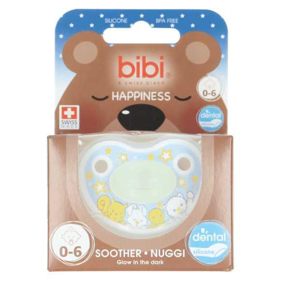 Bibi Happy glow In the dark 0-6 maanden fopspeen product photo