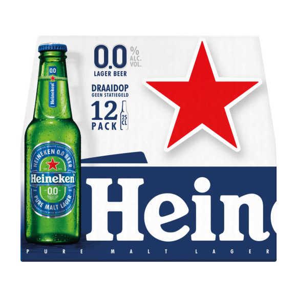 Heineken 0.0 alcoholvrij fles 12x25cl product photo