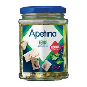 Apetina witte kaasblokjes in olie product photo