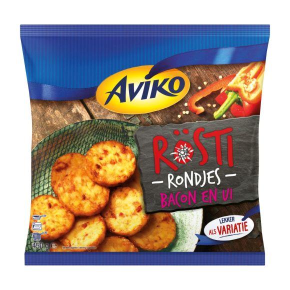 Aviko Rosti Rondjes Bacon en Ui product photo
