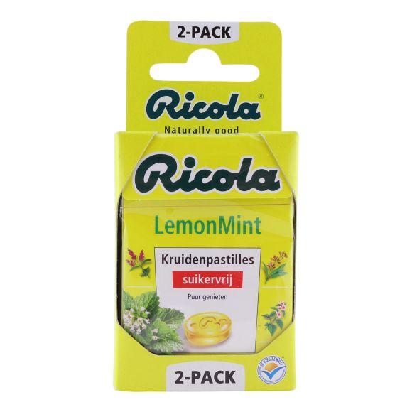 Ricola lemon mint kruidenpastilles 2-pack product photo