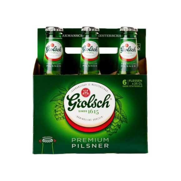 Grolsch Premium pilsner Fles 6 x 25 cl product photo