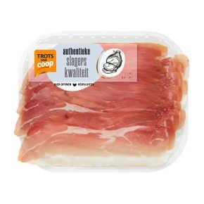 Trots van Coop Authentieke prosciutto crudo product photo