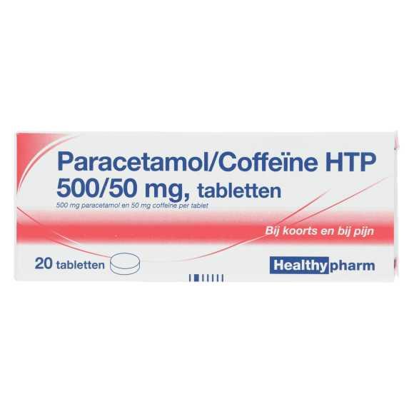 Healthypharm Paracetamol/Coffeïne tabletten 500/50 mg product photo