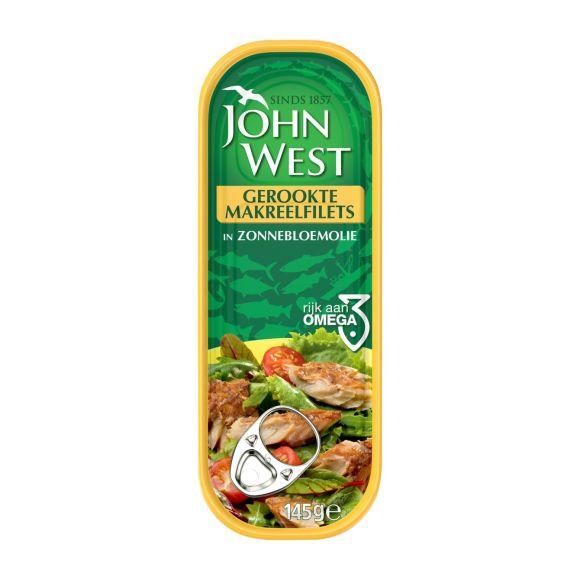 John West Gerookte makreelfilets in zonnebloemolie product photo