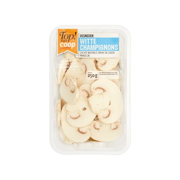 Witte champignons gesneden product photo