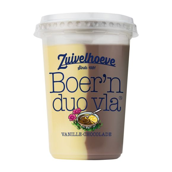 Boer'n DUO vla® vanille/ chocola 450 gram product photo