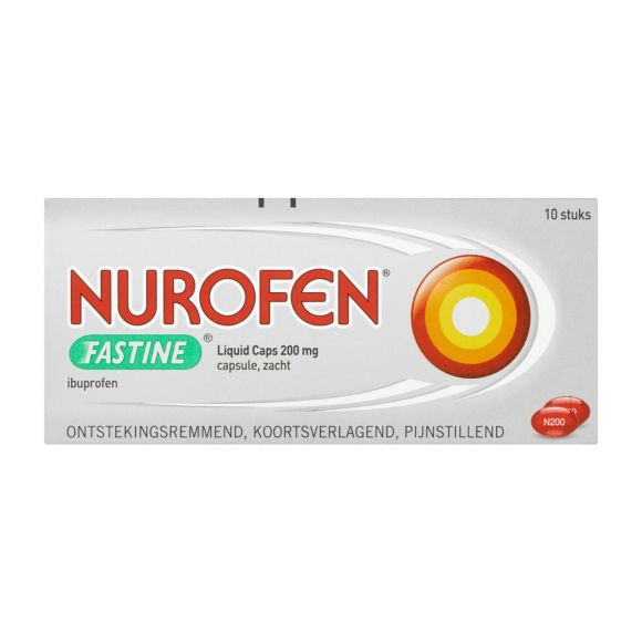 Nurofen Ibuprofen Fastine liquid caps 200 mg product photo