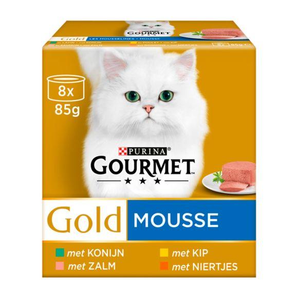 Gourmet Gold Mousse met Kip, Met Zalm, Met Niertjes, Met Konijn 8x85g product photo
