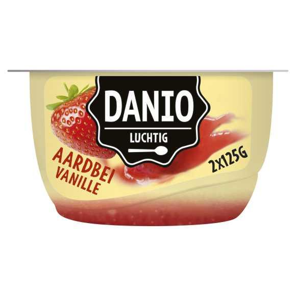 Danio Luchtige Kwark Vanille Aardbei 2 x 125 g product photo