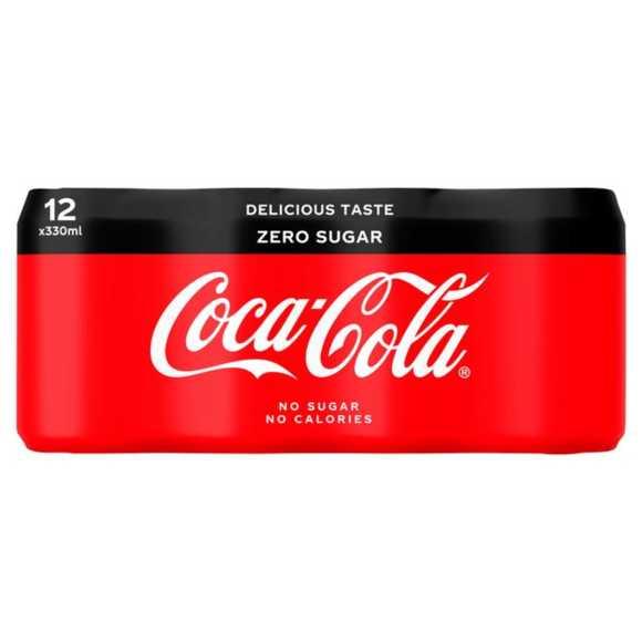 Coca-Cola Zero sugar 12 x 330 ml product photo