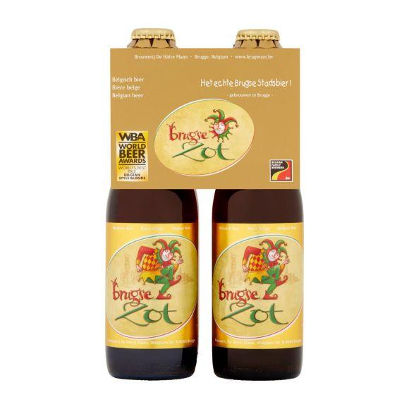Brugse Zot Blond bier flesje 4 x 33 cl product photo