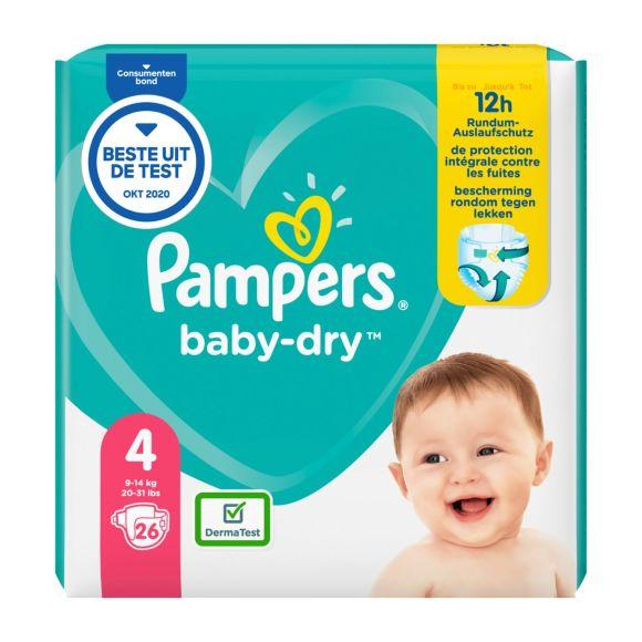 Pampers Baby-Dry luiers maat 4, 9-14kg product photo
