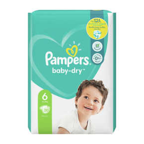 Pampers Baby-Dry luiers maat 6, 13-18kg product photo
