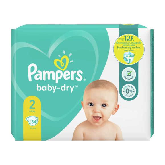 Pampers Baby-Dry luiers maat 2, 4-8kg product photo