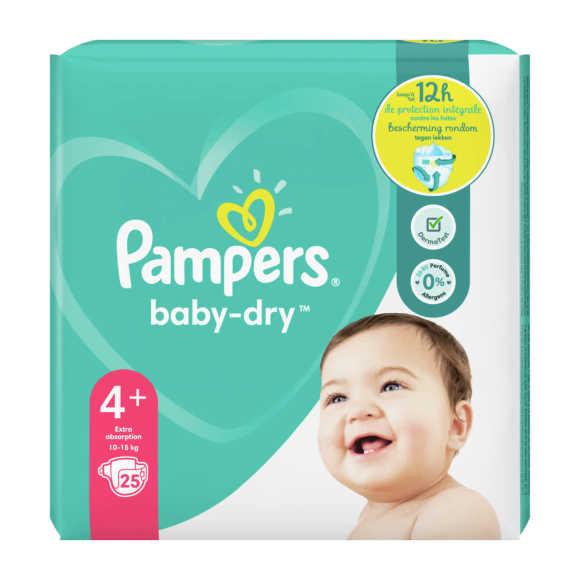 Pampers Baby-Dry luiers maat 4+, 10-15kg product photo
