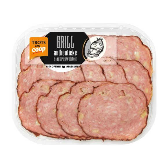 Trots van Coop Authentieke grillworst kaas product photo