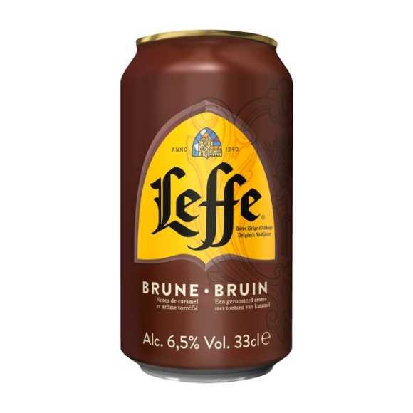 Leffe Bruin Belgisch abdijbier blik product photo