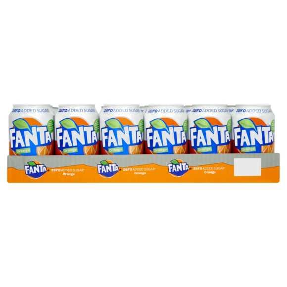 Fanta Orange zero 24 x 330 ml product photo
