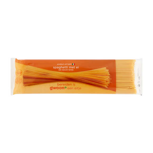 g'woon Spaghetti met ei product photo
