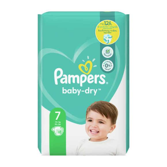 Pampers Baby-Dry luiers maat 7, 15kg+ product photo