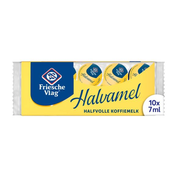 Friesche Vlag Halvamel Koffiemelk 10 x 7 ml Multi-pack product photo