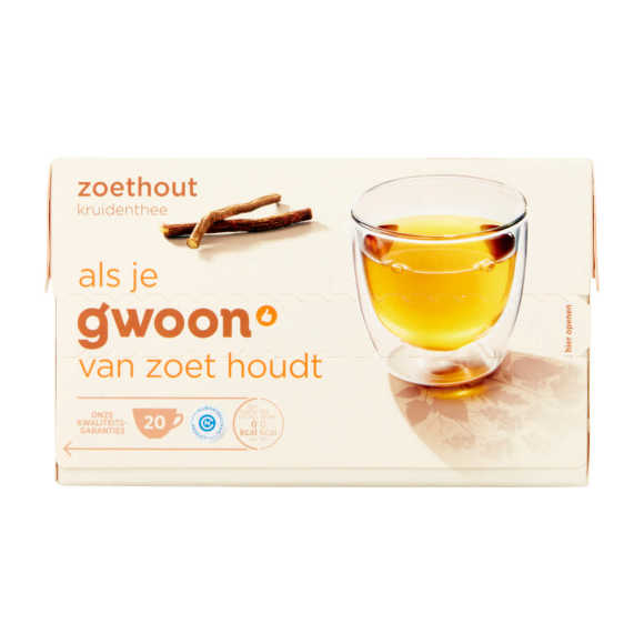 g'woon Zoethout thee product photo