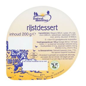 Zuivelmeester Melk- rijstdessert product photo