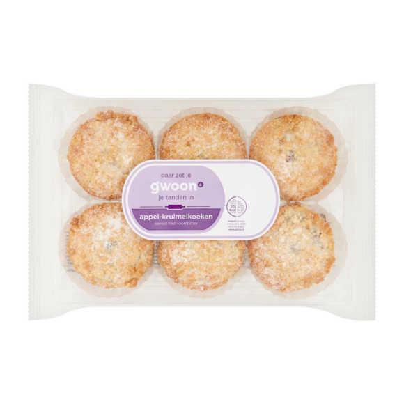 g'woon Roomboter appelkruimel koeken product photo