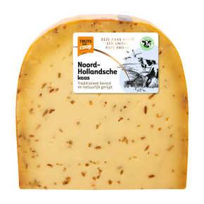 Trots van Coop Noord-Hollandsche belegen komijn 48+ kaas stuk product photo