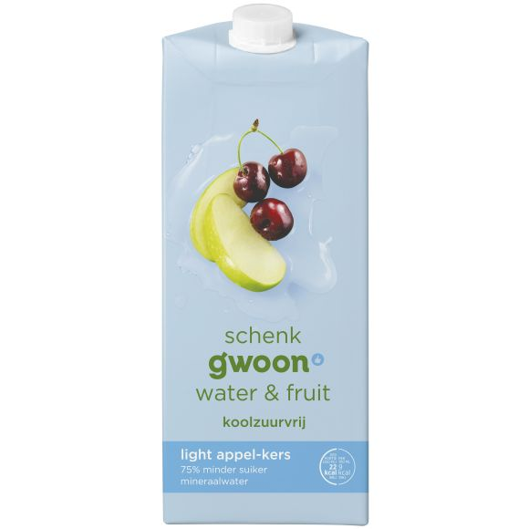 g'woon Water & fruit appel kers light product photo