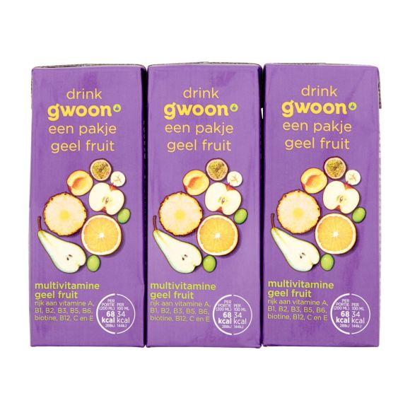 g'woon Multivitamine geel fruit pak 6 x 20 cl product photo