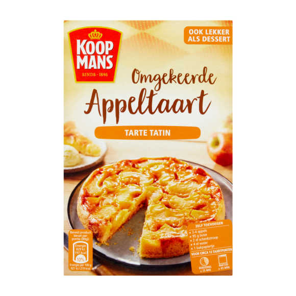 Koopmans Omgekeerde appeltaart tarte tatin product photo