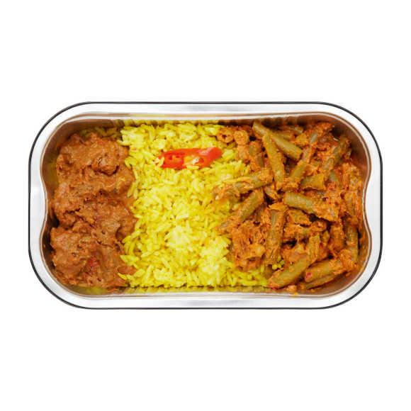 Rendang nasi kuning product photo