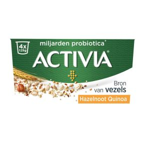 Activia Yoghurt hazelnoot quinoa product photo
