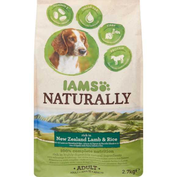 Iams Naturally hond lam & rijst product photo