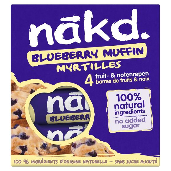 Nakd Fruit- en notenrepen blueberry muffin product photo