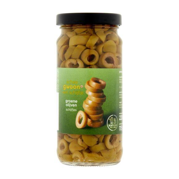 g'woon Groene olijven schijfjes product photo