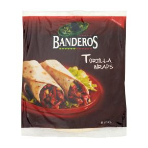Bandero Tortilla wraps 25 cm 6 stuks product photo