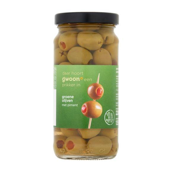 g'woon Groene olijven met piment product photo