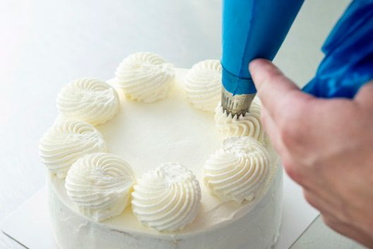 Decorating with cream