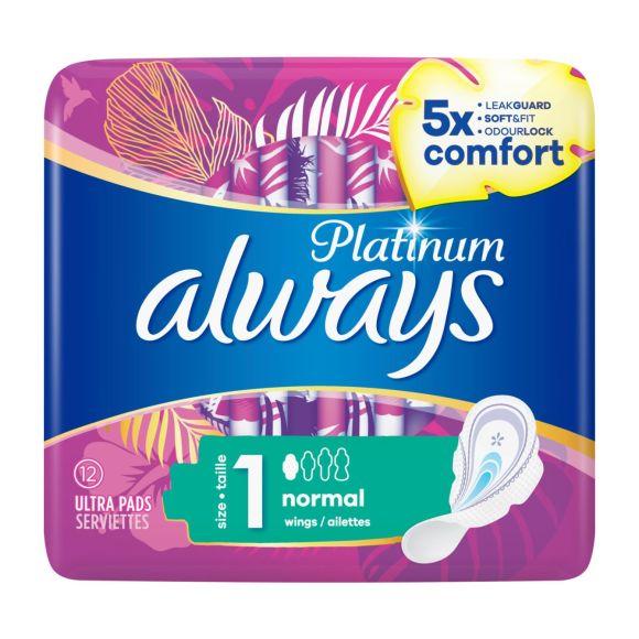 Always Platinum Normal (maat 1) maandverband vleugels product photo