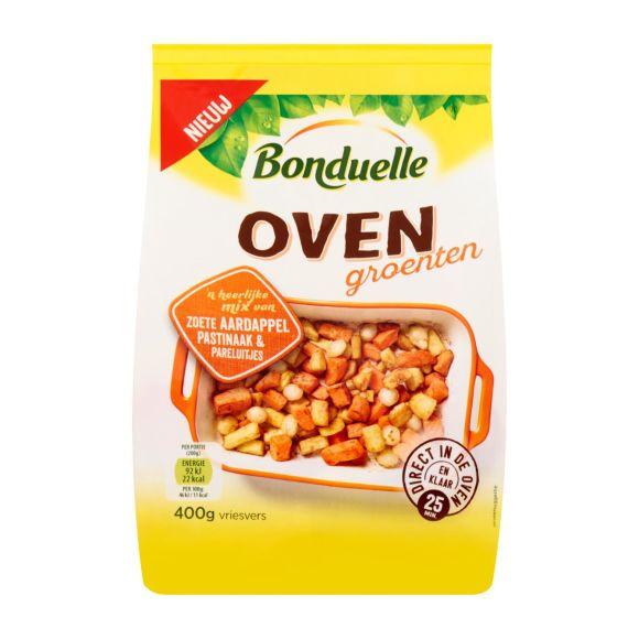 Ovengroenten zoete aardappel, pastinaak,  pareluitjes product photo