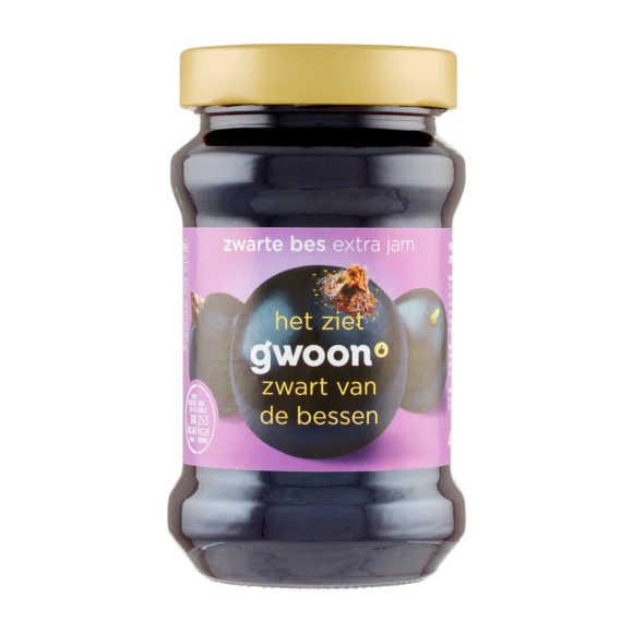 g'woon Extra jam zwarte bessen product photo