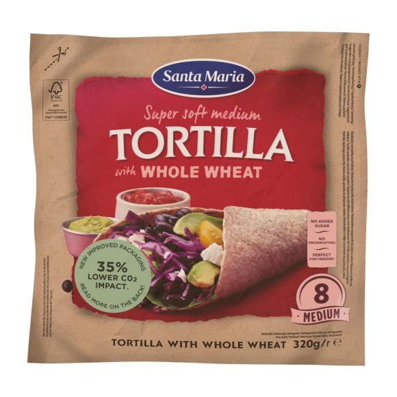 Santa Maria Tortilla with whole wheat product photo