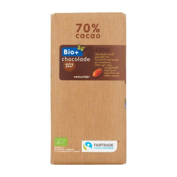 Bio+ Chocoladereep extra puur 70% product photo